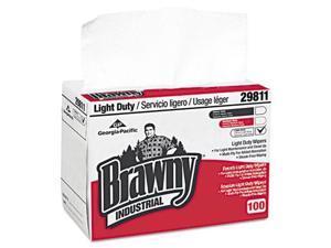 Georgia Pacific Professional Light-Duty Paper Wipers, 8 x 12 1/2, White, 148/Box, 20 Boxes/Carton