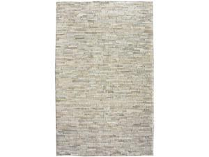 """New Modern Contemporary 7' 6"""" x 9' 6"""" Beige Hand Woven Area Rug Carpet Cow Hide"""