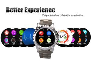 NO.1 SUN S2 Touch Screen Waterproof Bluetooth Camera Smart Watch Heart Rate Monitor For IOS Android iPhone Smartphone