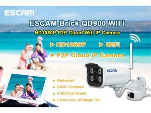ESCAM QD900 WIFI 1080P H.264 Waterproof IP Camera CCTV Wireless HD P2P IP Network Home IR Night Vision Security Webcam