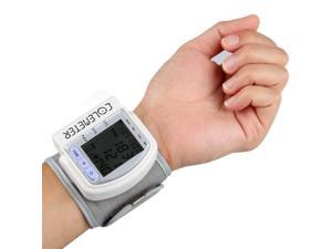 LCD Digital Wrist Pulse Blood Pressure Monitor & Heart Beat Meter - 60 Memory