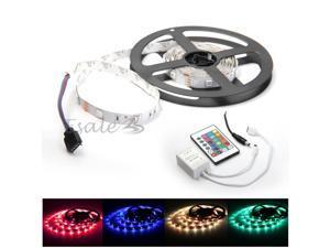 2M 5050 SMD 60 LED RGB Car Club Truck Strip Light + 24 Key Remote + Controller