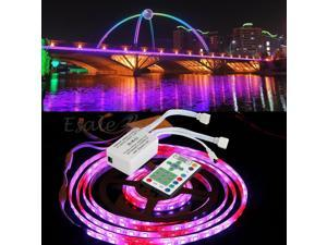 5M RGB LED Strip Light Chasing Magic Dream Color Controller Remote Control