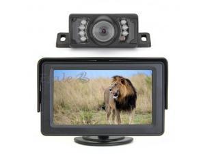 "4.3"" TFT Car Rear View Monitor IR Reverse Backup 7 LED Night Version Camera"