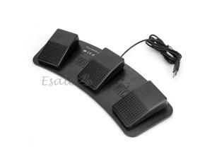 FS3-P USB Triple Foot Switch Pedal Control Keyboard Mouse PC Game Plastic