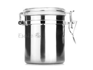 Kitchen Stainless Steel Airtight Sealed Canister Dry Food Container 980ML