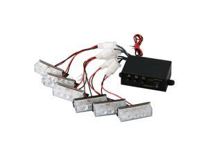 Set Yellow White 18 LED Strobe Emergency Flashing Warning Light for Car Truck
