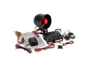 1-Way Car Auto Alarm Security System Siren with 2 Remote DC 12V