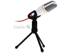 Professional Condenser Mic Microphone Studio Recording Network Chatting White
