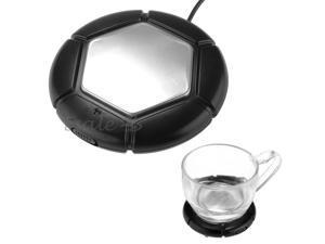 USB Powered Water Coffee Tea Soup Drink Cup Mug Warmer Heater Tray Pad Black