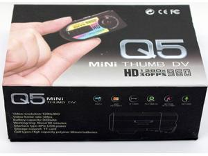 Q5 Mini Hidden Camera Spy Motion Detection Camera Mini Thumb DV HD 720P Digital CAM Hidden DV HD DVR WebCam Camcorder Recorder