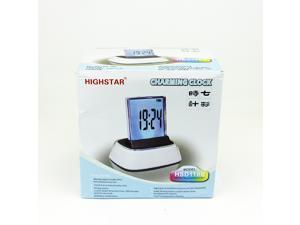 HIGHSTAR 7 Color Charming Clock LCD Digital Alarm Clock Desktop Timer Clock w/color changing mood light HSD110B