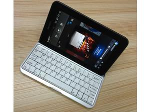 Slim Thin Aluminum Mobile Bluetooth Keyboard For Samsung Galaxy Tab 7.0 P3100 P3110 P3113 and P6200 P6210 Wireless Bluetooth 3.0 Keyboard Case Stand