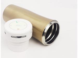 XY-D028 Champagne Bluetooth V3.0 Speaker Wireless Portable Music Cup Insulation Cup Steel Vacuum Mug 380ML Water Mug FM Transmitter TF Card Max 32GB