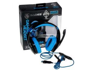 New Sades A50 USB Gaming Headset Headphone with Microphone7.1 Channel Surround Sound Effect in Retail box