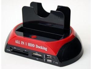 876C USB2.0 Dual bay SATA HDD Docking Station + ESATA+ Card Reader with 5 USB hubs