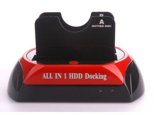 876 All in1 HDD Docking Station Support 3.5''/2.5'' USB2.0 eSATA SATA HDD Docking Station