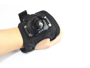 360 Degree Rotation Glove-style Wrist Hand Mount Strap Holder GP143L for GoPro Hero 4/3+/3/2/1