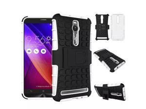 "Tire Style Tough Rugged Dual Layer Hybrid Kick Stand Case for Asus Zenfone 2 5.5"" ZE551ML Kickstand Slim Armor Duty Case"