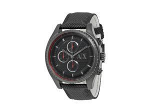 Armani Exchange Chronograph Black Dial Black Nylon Mens Watch AX1610
