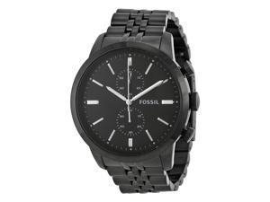 Fossil Townsman Chronograph Black Dial Black-plated Mens Watch FS4787