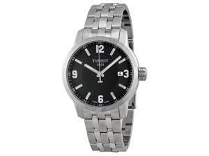 Tissot PRC 200 Quartz Black Dial Stainless Steel Sport Mens Watch T0554101105700