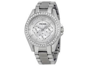 Fossil Riley Multi-Function Silver Dial Ladies Watch ES3202