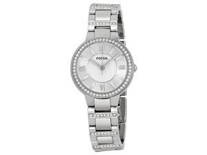 Fossil Virginia Silver Dial Stainless Steel Ladies Watch ES3282