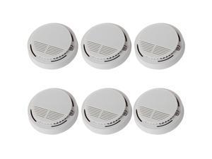 6/Lot Intelligent Smoke Detector Home Security Fire Alarm Sensor System Cordless