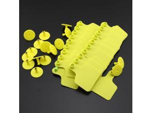 Pack of 100 2.36 inch×2.87 inch Plastic Big Ear Tag for Cow Cattle Yellow