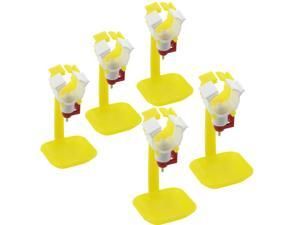 """Pack of 5 Lightweight Plastic Poultry Nipple Drip Catching Cup Attaches To 3/4"""" Pvc Pipe"""