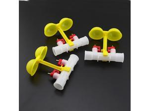 Pack of 3 Chicken Water Double Squeeze Water drinking Nipples Dual Feeder Waterer