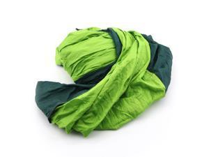 Enjoy deal Portable Parachute Nylon Fabric Travel Camping Hammock yellowish green blackish green