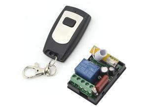 RF AC 220V 1000W 1 Channel One Relay Wireless Learning Remote Control Switch Black&White Type Transmitter