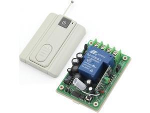 RF AC 100-240V 2500W  1 Channel One Relay Wireless Learning Remote Control Switch One Key Gary Transmitter