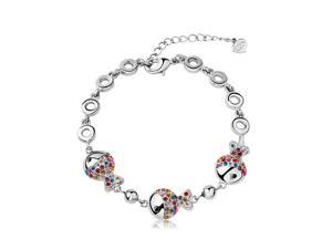 Yoursfs 18K White Gold Plated Cute Fish Bracelet Use Swarovski Crystal Jewelry