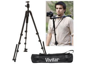 "Vivitar 2-in-1 Shoulder Mount and 46"" Tripod with Case"