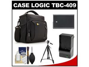 Case Logic TBC-409 Digital SLR Camera Shoulder Case (Black) with EN-EL14 Battery & Charger + Tripod + Kit for Nikon D3100, D3200, D5100, D5200