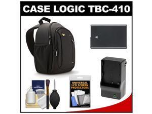 Case Logic TBC-410 Digital SLR Camera Sling Case (Black) with EN-EL14 Battery & Charger + Accessory Kit for Nikon D3100, D3200, D5100, D5200