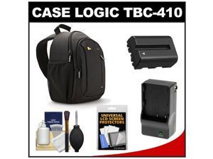 Case Logic TBC-410 Digital SLR Camera Sling Case (Black) with NP-FM500H Battery & Charger + Accessory Kit for Sony Alpha A57, A58, A65, A77, A99