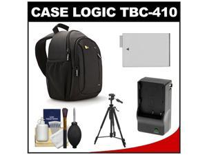 Case Logic TBC-410 Digital SLR Camera Sling Case (Black) with LP-E8 Battery & Charger + Tripod + Kit for Rebel T3i, T4i, T5i