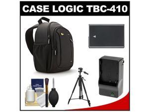 Case Logic TBC-410 Digital SLR Camera Sling Case (Black) with EN-EL14 Battery & Charger + Tripod + Kit for Nikon D3100, D3200, D5100, D5200