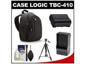 Case Logic TBC-410 Digital SLR Camera Sling Case (Black) with EN-EL15 Battery & Charger + Tripod + Kit for D7000, D7100, D600, D800