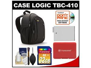 Case Logic TBC-410 Digital SLR Camera Sling Case (Black) with 32GB Card + LP-E8 Battery + Accessory for Rebel T3i, T4i, T5i