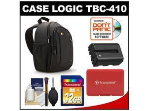 Case Logic TBC-410 Digital SLR Camera Sling Case (Black) with 32GB Card + NP-FM500H Battery + Accessory Kit for Sony Alpha A57, A58, A65, A77, A99