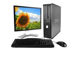 "Dell Optiplex 755 Slim Desktop and 17"" LCD Bundle (R2/Ready for Reuse) Intel Pentium Dual E2160@1.80GHz, 4GB RAM, 250GB HD, 17"" flat panel LCD, Windows 7 Home Premium 64-bit"