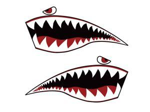 Warhawk Sticker Decal  Flying Tiger Shark Teeth Fighter Jet Bite War Hawk