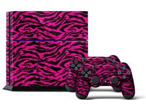 Sony PS4 PlayStation 4 Console Skin plus 2 Controller Skins -  Zebra Pink