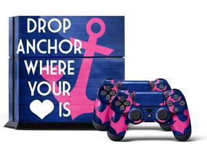 Sony PS4 PlayStation 4 Console Skin plus 2 Controller Skins - Anchor