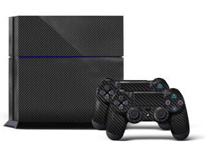 Sony PS4 PlayStation 4 Console Skin plus 2 Controller Skins - Carbon
